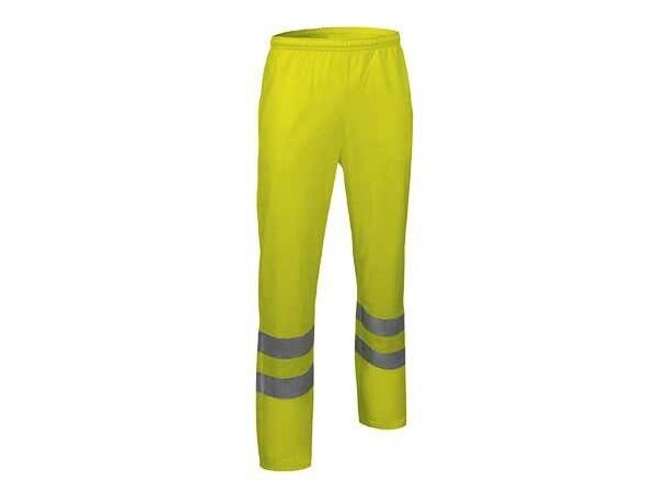 Pantalón cómodo de poliester con reflectantes Valento personalizado amarillo alta visibilidad