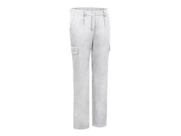 Pantalón multibolsillos resistente de mujer Valento blanco