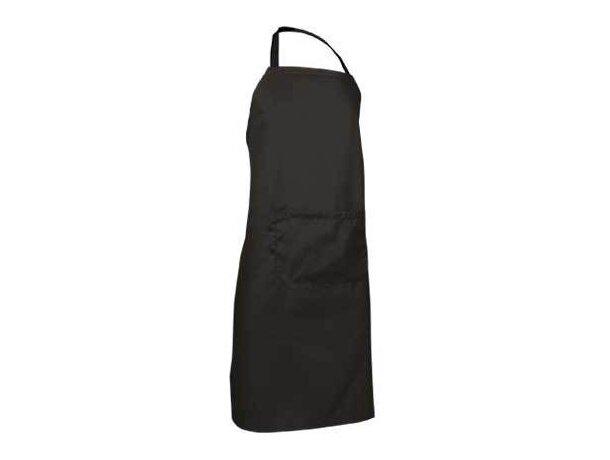 delantal con bolsillo en poliester Valento barato negro