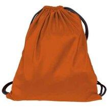 Mochila saco con cuerdas con bolsillo interior Valento naranja