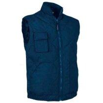 Chaleco de cuello alto con forro interior y bolsillos Valento personalizado azul