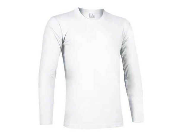 Camiseta manga larga unisex ajustada 190 gr Valento blanca