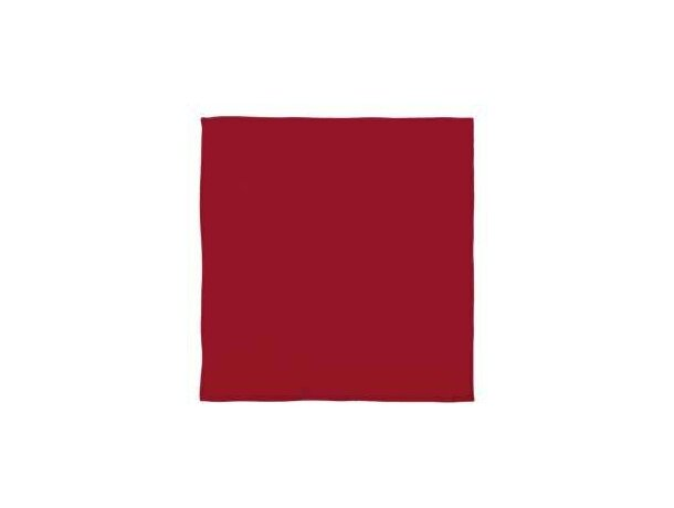 Pañuelo de tejido tafetán Valento personalizado rojo