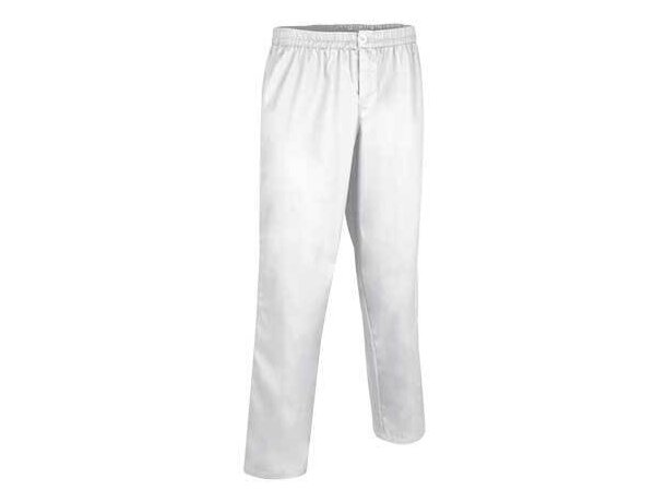 Pantalón clásico sanitario con cremallera Valento blanco personalizado