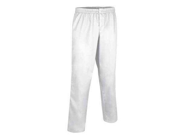 Pantalón clásico sanitario con cremallera Valento blanco