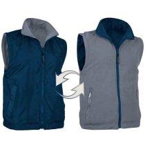 Chaleco reversible de cuello alto con bolsillos Valento personalizado fucsia