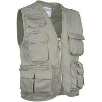 Chaleco con múltiples bolsillos en colores Valento arena personalizado