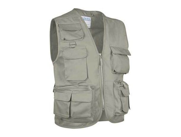 Chaleco con múltiples bolsillos en colores Valento arena