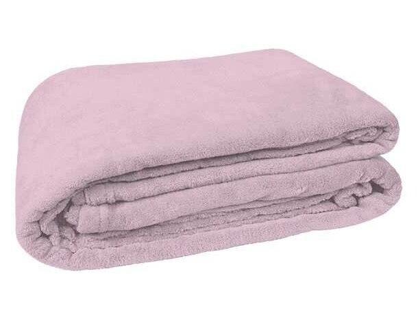 Manta polar blanca Valento rosa personalizado