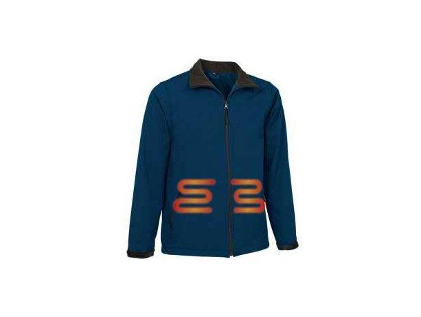 Chaqueta técnica calefactable de hombre Valento con logo azul