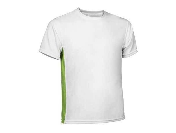 Camiseta técnica unisex con manga corta 150 gr Valento grabada blanco y azul