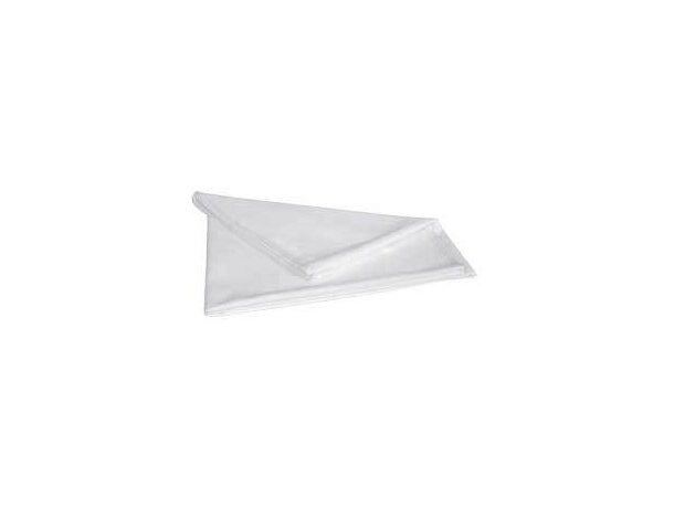 Toalla ligera de microfibra Valento personalizada blanca