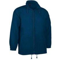 Chubasquero con cuello alto y capucha Valento personalizado azul