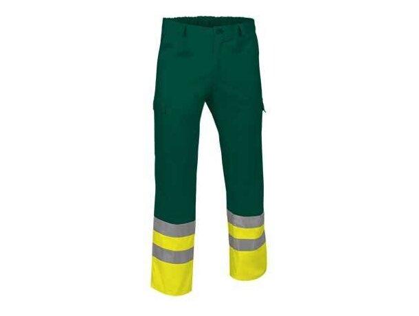 Pantalón multibosillos de sarga con reflectantes Valento personalizado