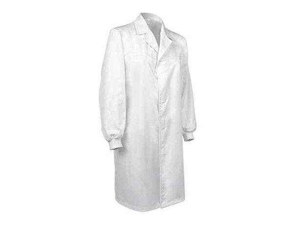 Bata médica de corte clásico y manga larga Valento personalizada blanca