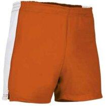 Pantalón corto deportivo con detalles Valento naranja