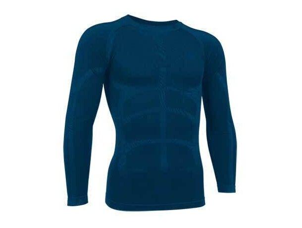 Camiseta segunda piel adulto manga larga Valento azul
