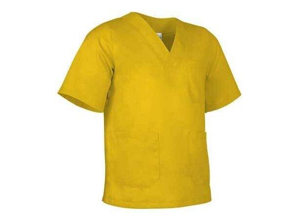 Blusón sanitario de corte ancho con bolsillos Valento amarillo