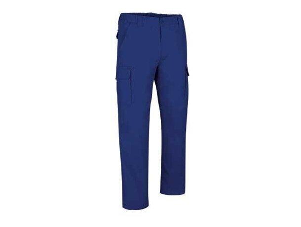 Pantalón de hombre multibolsillos de corte clásico Valento azul royal personalizado