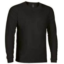 Camiseta  de manga larga adulto Valento negra
