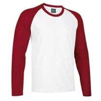 Camiseta manga larga de hombre combinada 200 gr Valento blanca
