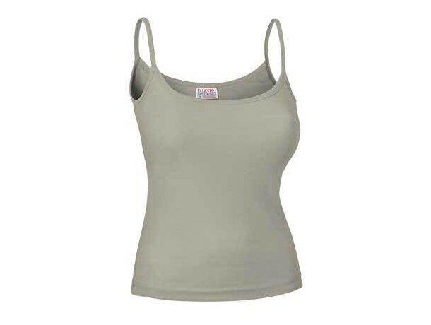 Camiseta tirante fino de mujer Valento personalizada beige