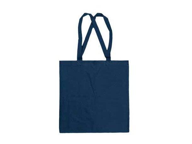 Bolsa plana con asas largas Valento azul