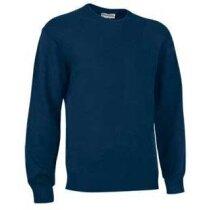 Jersey de trabajo cuello redondo Valento personalizado azul