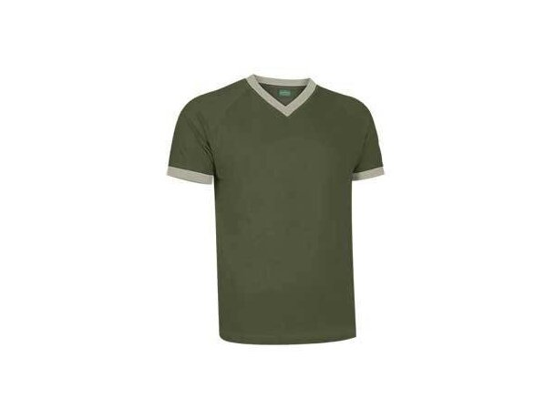 Camiseta manga corta cuello contrastado Valento Valento verde