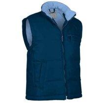 Chaleco de poliester de cuello alto con bolsillos oblicuos Valento personalizado azul