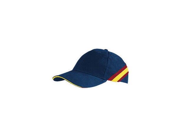 Gorra motivos bandera de España Valento personalizada azul