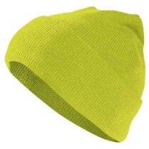 Gorro polar acrílico en colores de alta visibilidad Valento personalizado amarillo alta visibilidad