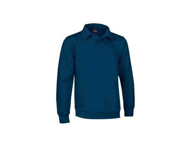Sudadera con cuello de polo de hombre Valento azul merchandising