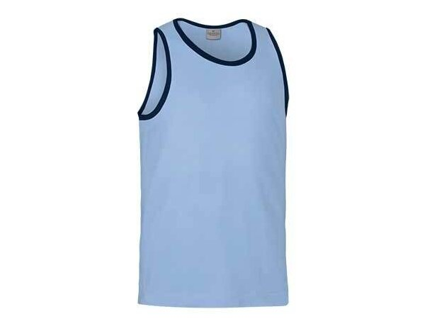 Camiseta unisex de tirantes algodón Valento personalizada azul claro