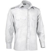 Camisa de trabajo manga larga de hombre Valento blanca