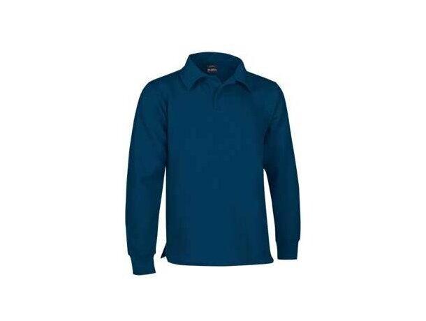 Sudadera de felpa con cuello de polo Valento azul barata