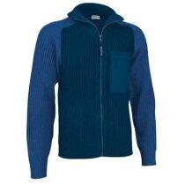Jersey Cuello Alto con Cremallera Valento azul personalizada