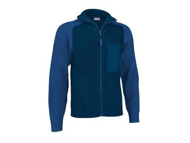Jersey Cuello Alto con Cremallera Valento azul barata