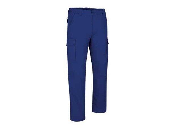 Pantalón multibolsillos de hombre en varios colores Valento azul royal