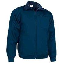 Chaqueta polar con bolsillos para trabajar Valento personalizada azul