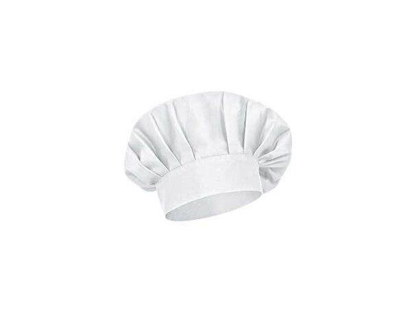 Gorro de algodón francés para restaurante Valento blanco