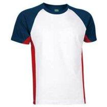 Camiseta de Valento combinada 160 gr Valento blanca personalizado