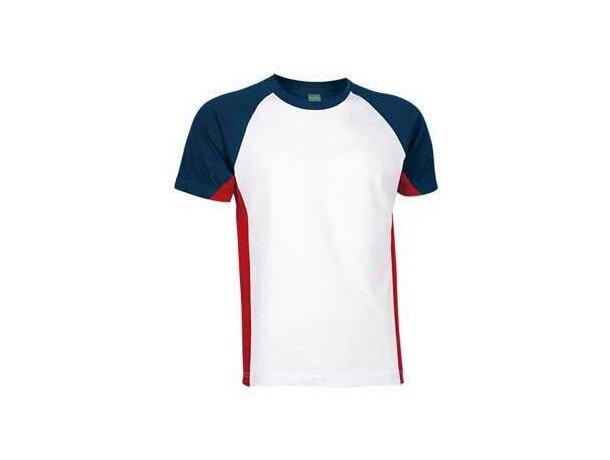 Camiseta de Valento combinada 160 gr Valento con logo blanca