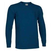 Camiseta manga larga con bolsillo Bear de Valento 160 gr Valento azul