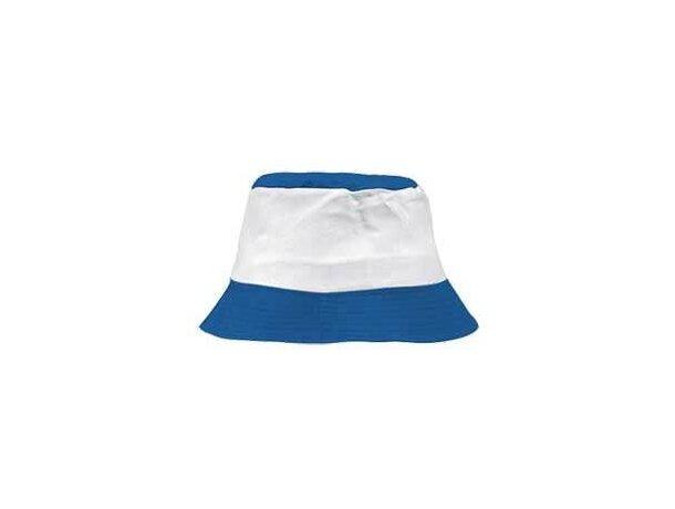 Gorro de algodón combinado para la playa Valento personalizado azul