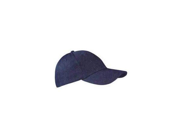 Gorra hecha en tejido denim y cierre de velcro ajustable Valento con logo azul