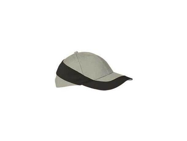 Gorra con diseño moderno en colores combinados Valento personalizada blanca