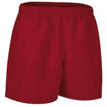 Pantalón corto de deporte de poliester Valento rojo