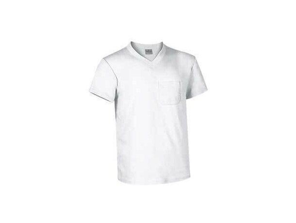 Camiseta cuello de pico Valento 160 gr Valento grabada blanca