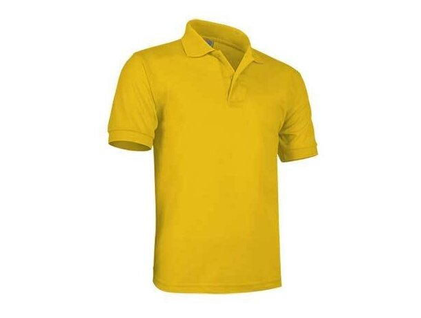 Polo de manga corta ulises de Valento 180 gr Valento con logo amarillo